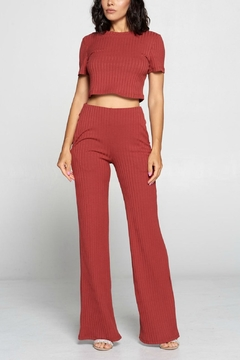 Pretty Little Things Ribbed Knit Flares - Product List Image