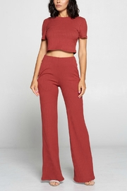 Pretty Little Things Ribbed Knit Flares - Product Mini Image