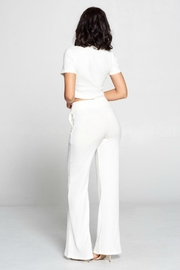 Pretty Little Things Ribbed Knit Flares - Front full body