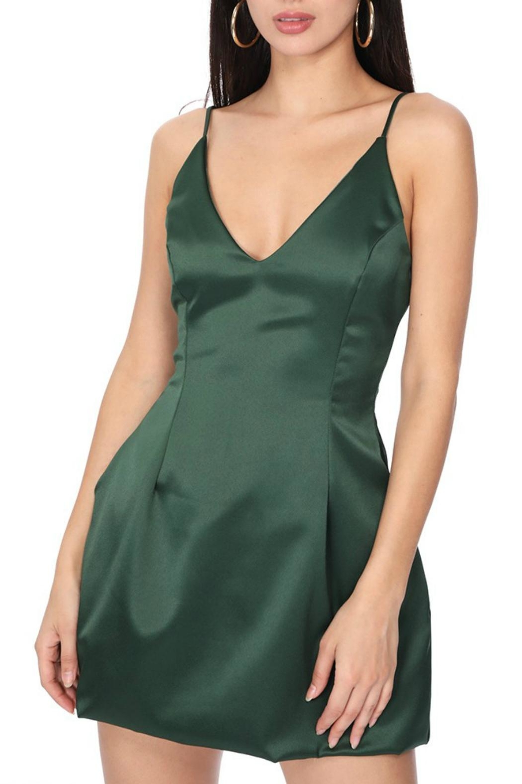Pretty Little Things Satin Flare Dress - Main Image