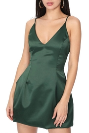 Pretty Little Things Satin Flare Dress - Front cropped