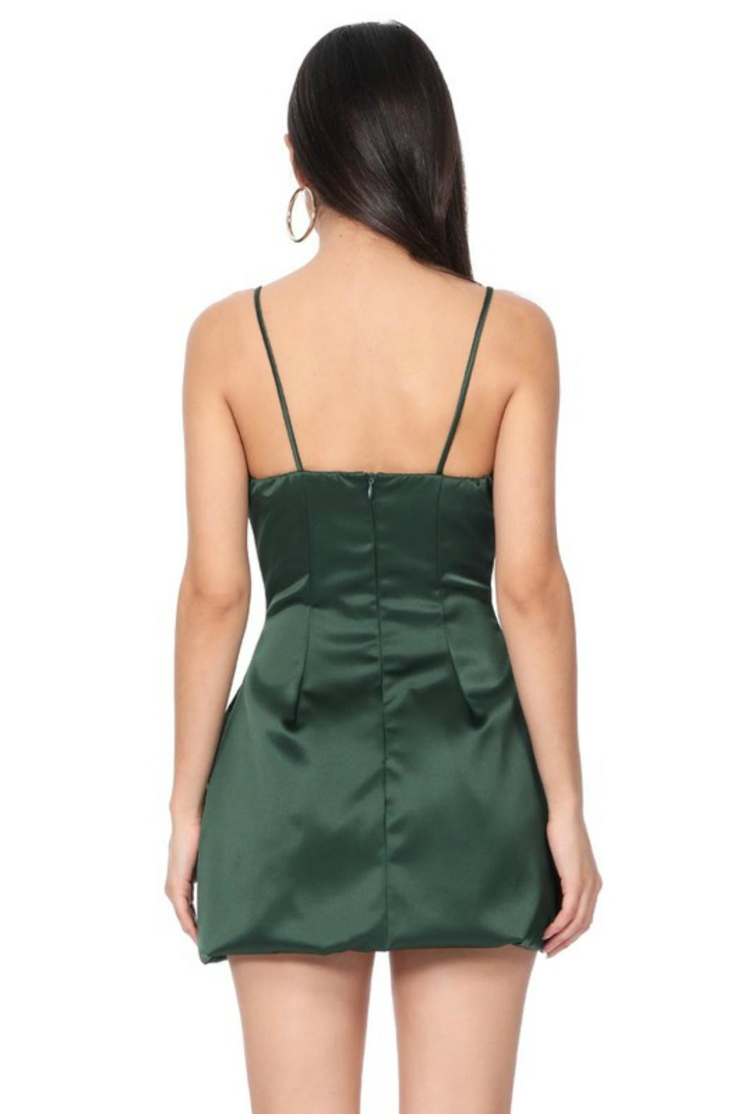 Pretty Little Things Satin Flare Dress - Front Full Image