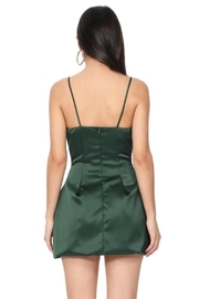 Pretty Little Things Satin Flare Dress - Front full body