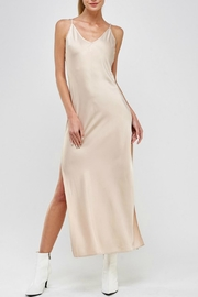 Pretty Little Things Satin Maxi Dress - Front cropped