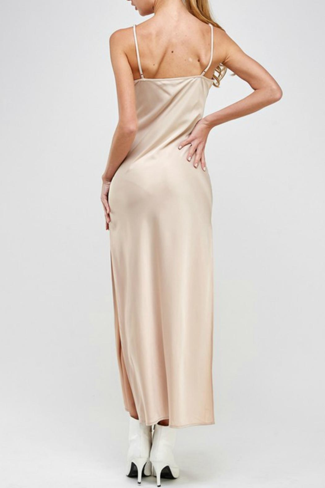 Pretty Little Things Satin Maxi Dress - Side Cropped Image