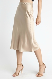 Pretty Little Things Satin Midi Skirt - Front cropped