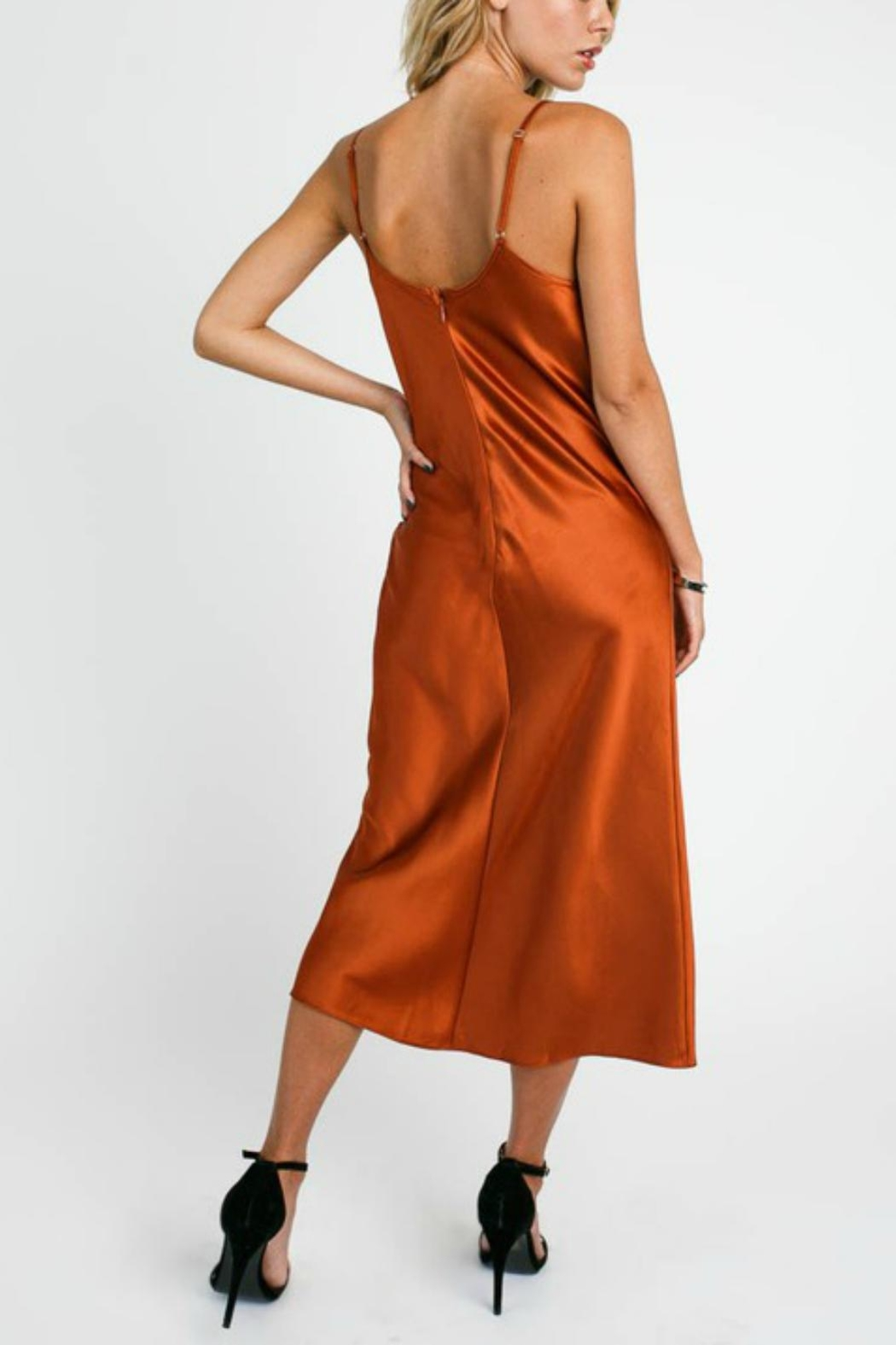 Pretty Little Things Satin Slip Dress - Side Cropped Image