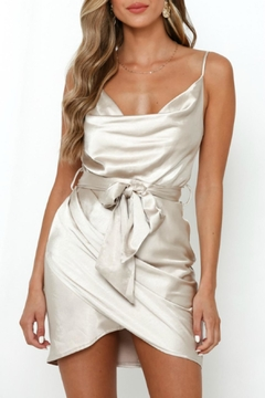 Pretty Little Things Satin Wrap Dress - Product List Image