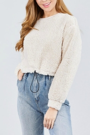Pretty Little Things Sherpa Crewneck Pullover - Product Mini Image