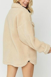 Pretty Little Things Sherpa Shirt Jacket - Side cropped