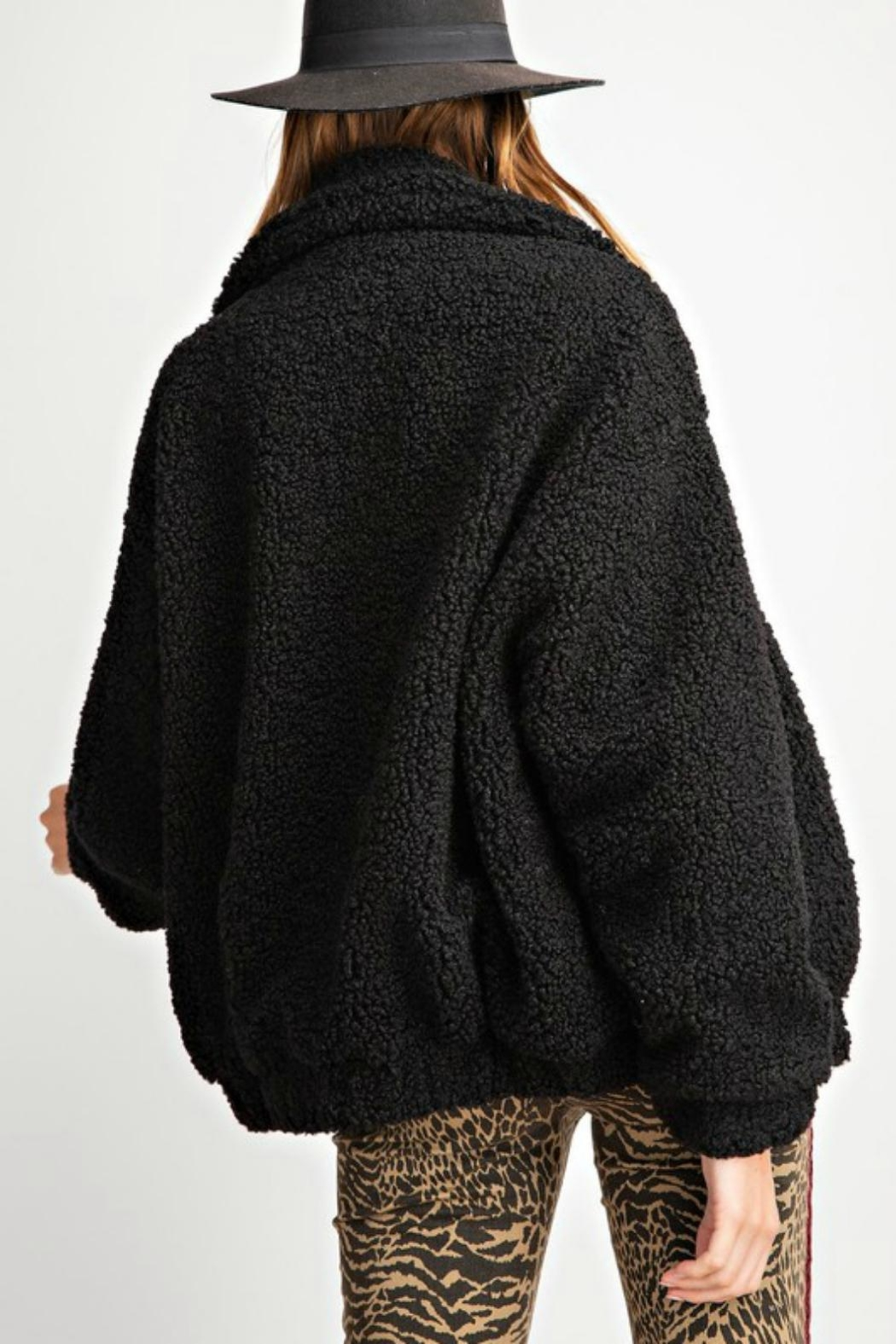 Pretty Little Things Sherpa Teddy Coat - Front Full Image