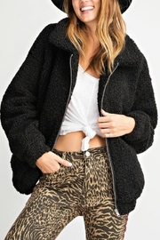 Pretty Little Things Sherpa Teddy Coat - Front cropped