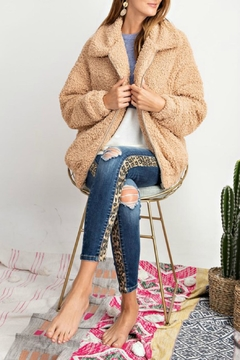 Pretty Little Things Sherpa Teddy Coat - Product List Image