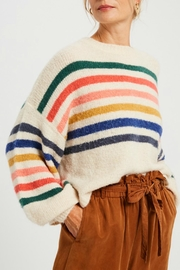 Pretty Little Things Slouchy Rainbow Sweater - Front cropped