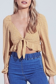 Pretty Little Things Spotted Tie Top - Front cropped