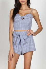 Pretty Little Things Squared Tie Top - Front cropped