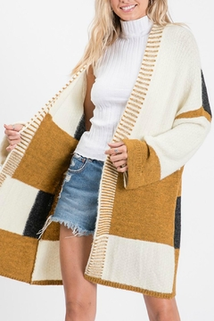 Pretty Little Things Sticthed Colorblock Cardigan - Product List Image