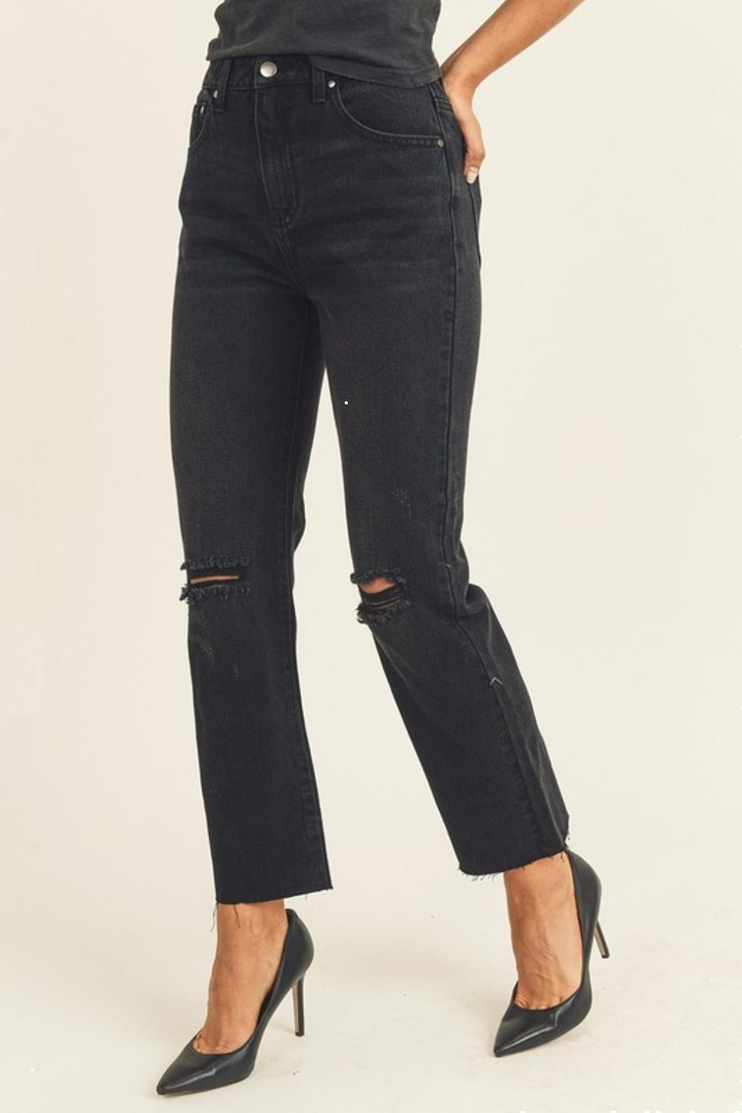 Pretty Little Things Straight Leg Jeans - Front Full Image