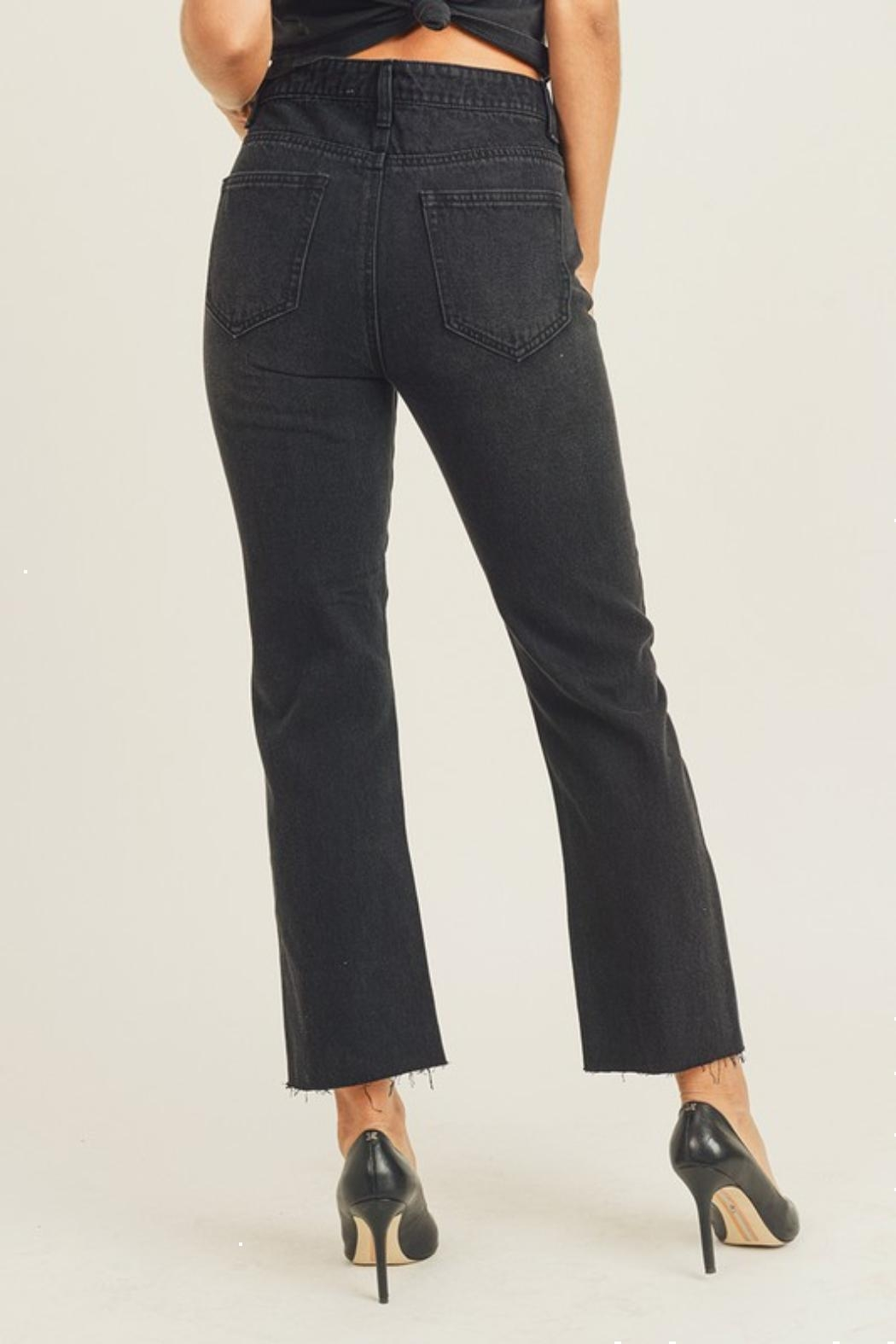 Pretty Little Things Straight Leg Jeans - Side Cropped Image