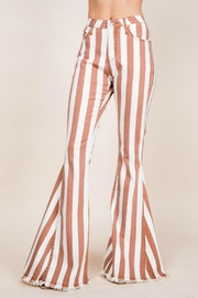 Pretty Little Things Stripe Denim Flares - Product Mini Image