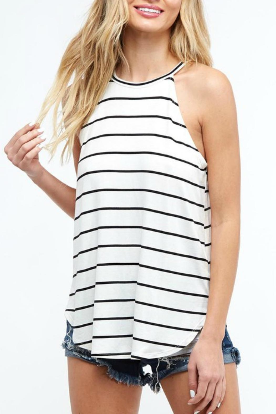 Pretty Little Things Striped Racerback Top - Main Image
