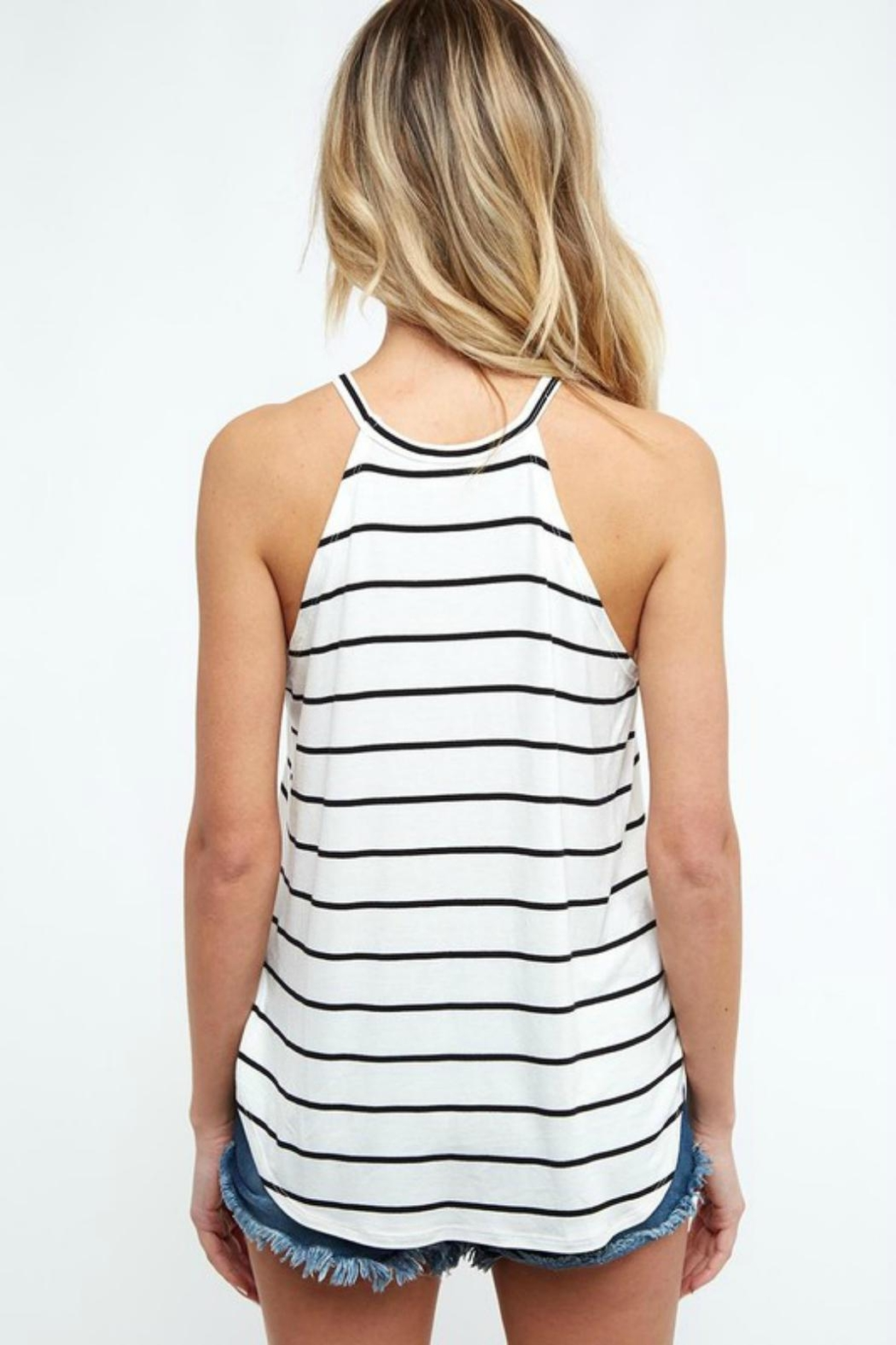 Pretty Little Things Striped Racerback Top - Front Full Image