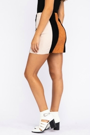 Pretty Little Things Suede Patchwork Skirt - Front full body
