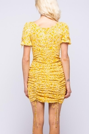 Pretty Little Things Sunflower Ruched Dress - Front full body