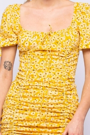 Pretty Little Things Sunflower Ruched Dress - Side cropped