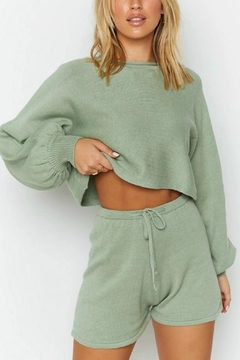 Pretty Little Things Sweater Shorts - Product List Image