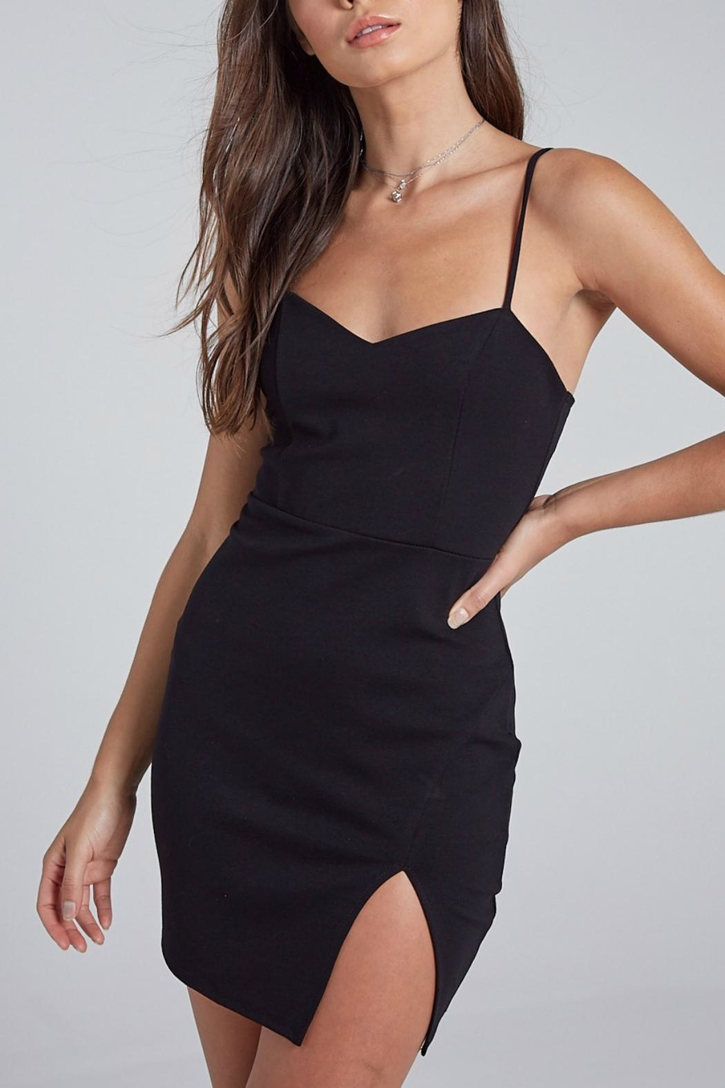 Pretty Little Things Sweetheart Bodycon Dress - Front Cropped Image