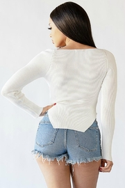 Pretty Little Things Sweetheart Ribbed Top - Side cropped