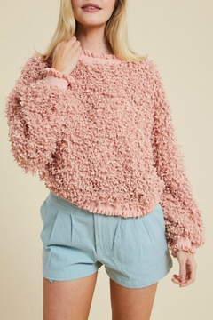 Pretty Little Things Textured Ruffle Sweater - Product List Image