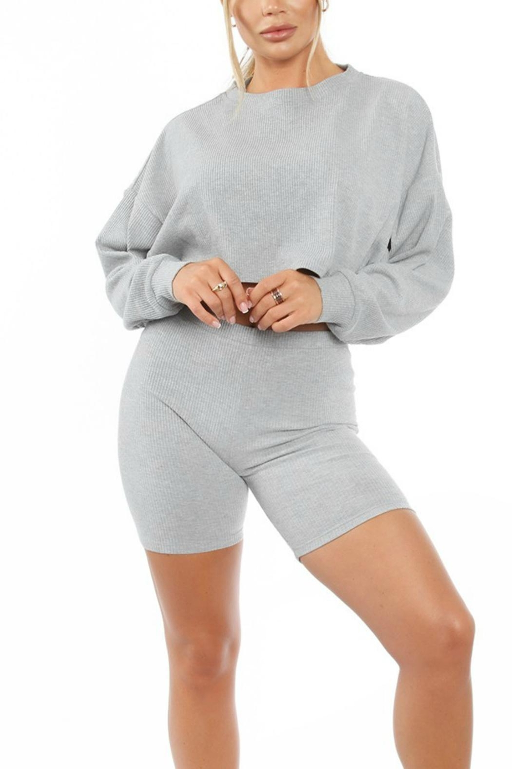 Pretty Little Things Thermal Boxy Top - Front Full Image