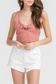 Pretty Little Things Tie Crop Top - Product Mini Image