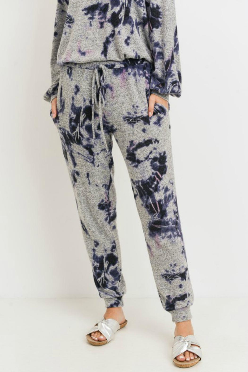 Pretty Little Things Tie Dye Joggers - Front Cropped Image