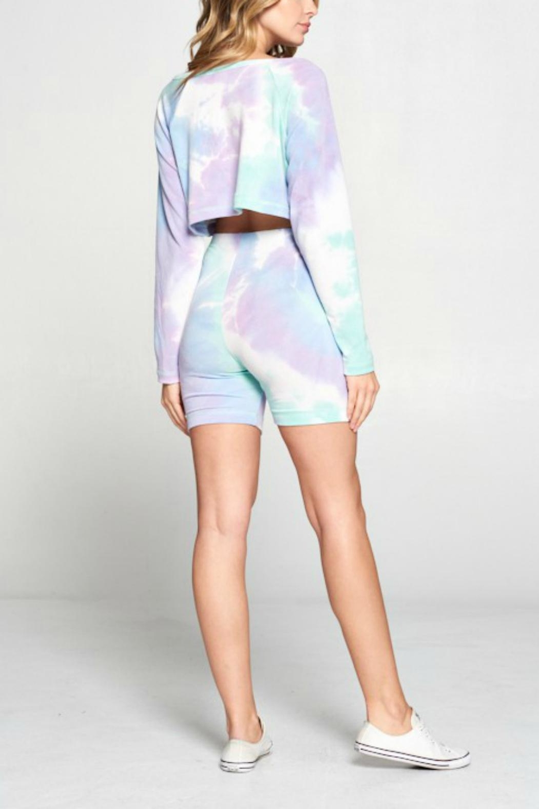 Pretty Little Things Tie Dye Shorts - Side Cropped Image