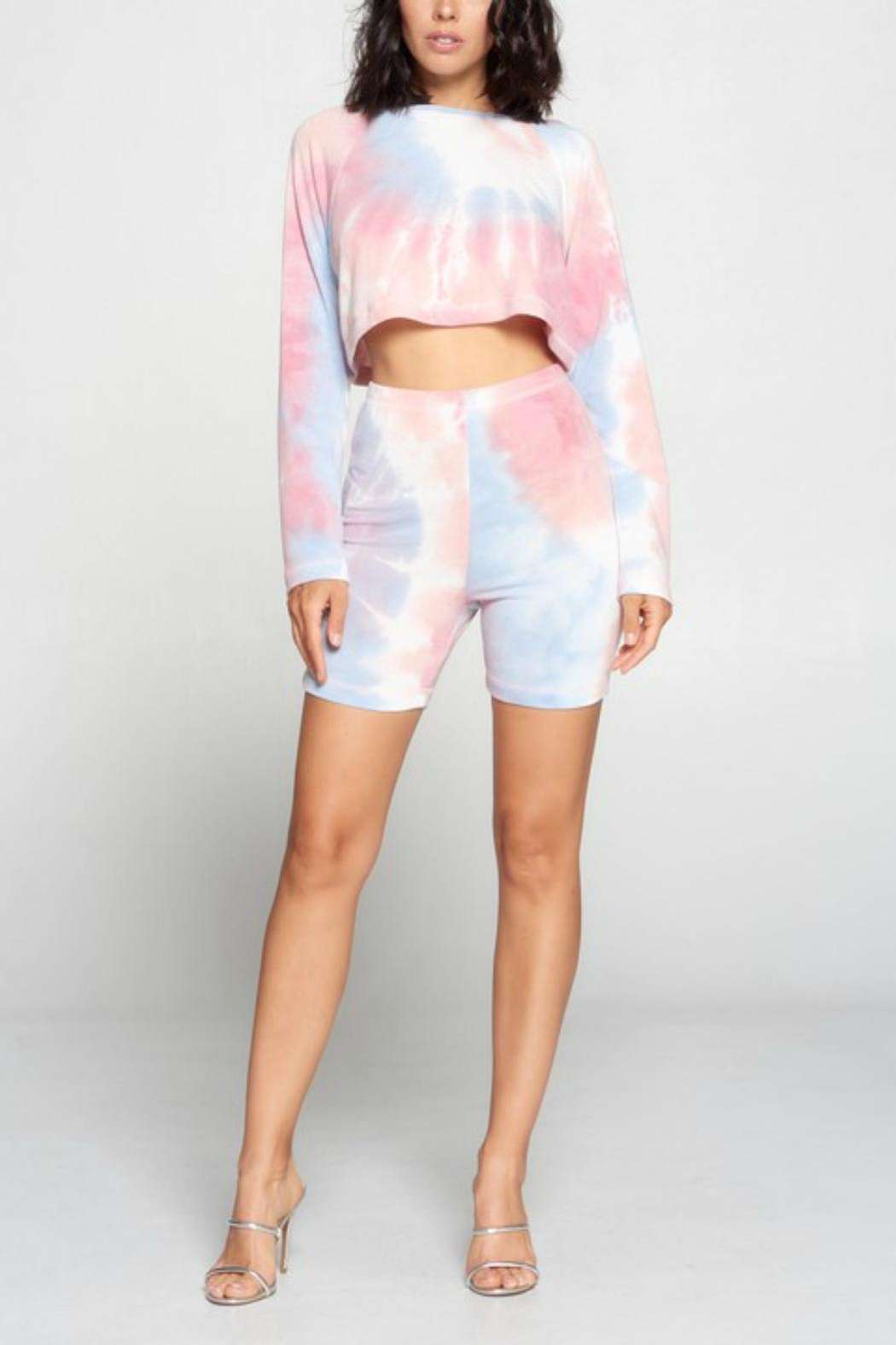Pretty Little Things Tie Dye Shorts - Front Full Image