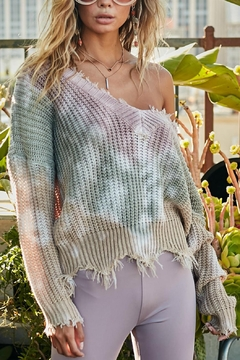 Pretty Little Things Tie Dye Sweater - Product List Image