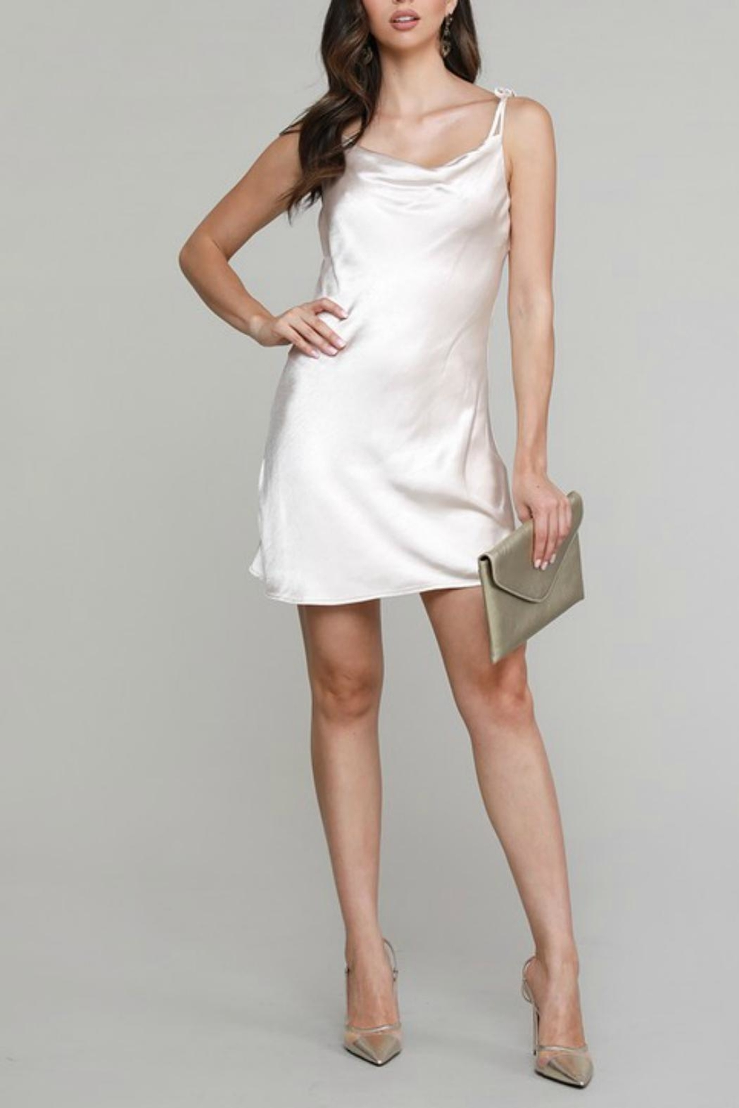 Pretty Little Things Ties Slip Dress - Front Cropped Image