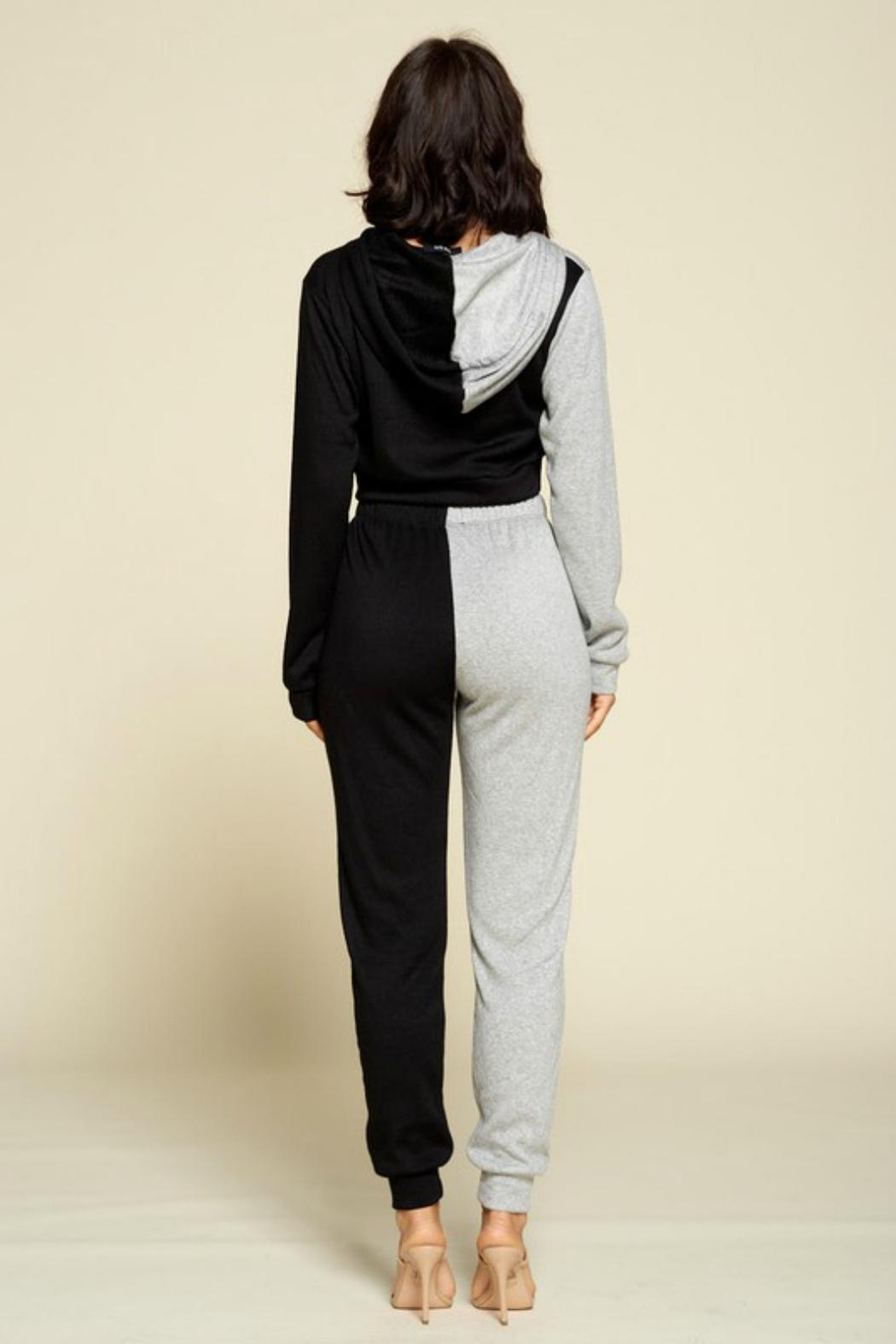 Pretty Little Things Two Tone Joggers - Front Full Image