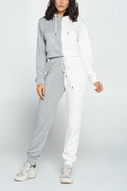 Pretty Little Things Two Tone Joggers - Front cropped