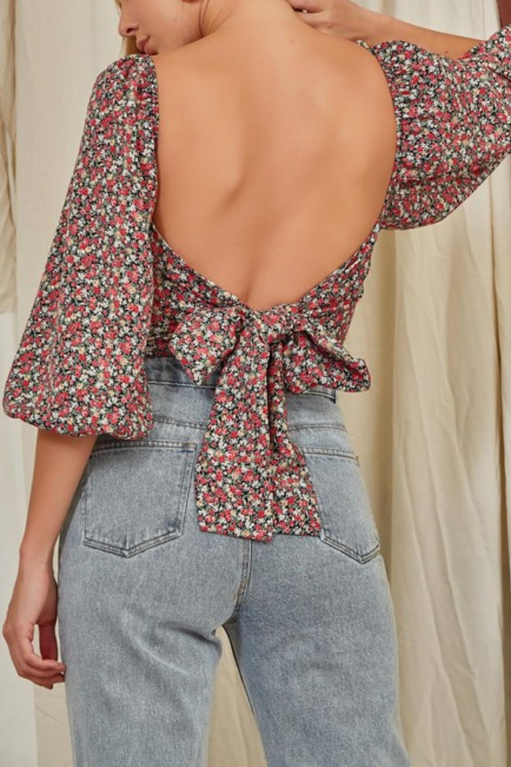 Pretty Little Things Underwire Bustier Blouse - Front Full Image