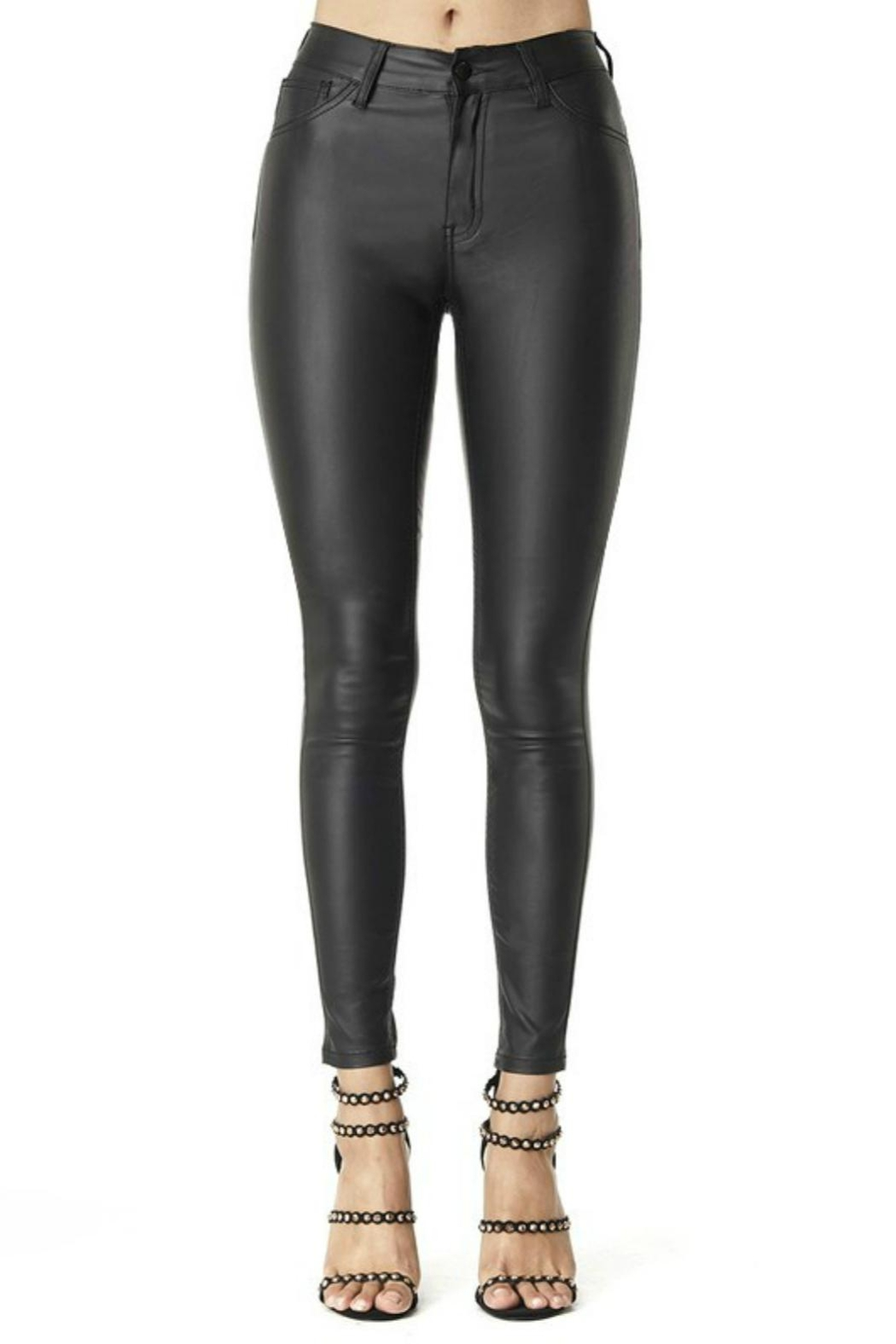 Pretty Little Things Vegan Leather Pants - Main Image