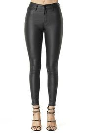 Pretty Little Things Vegan Leather Pants - Front cropped
