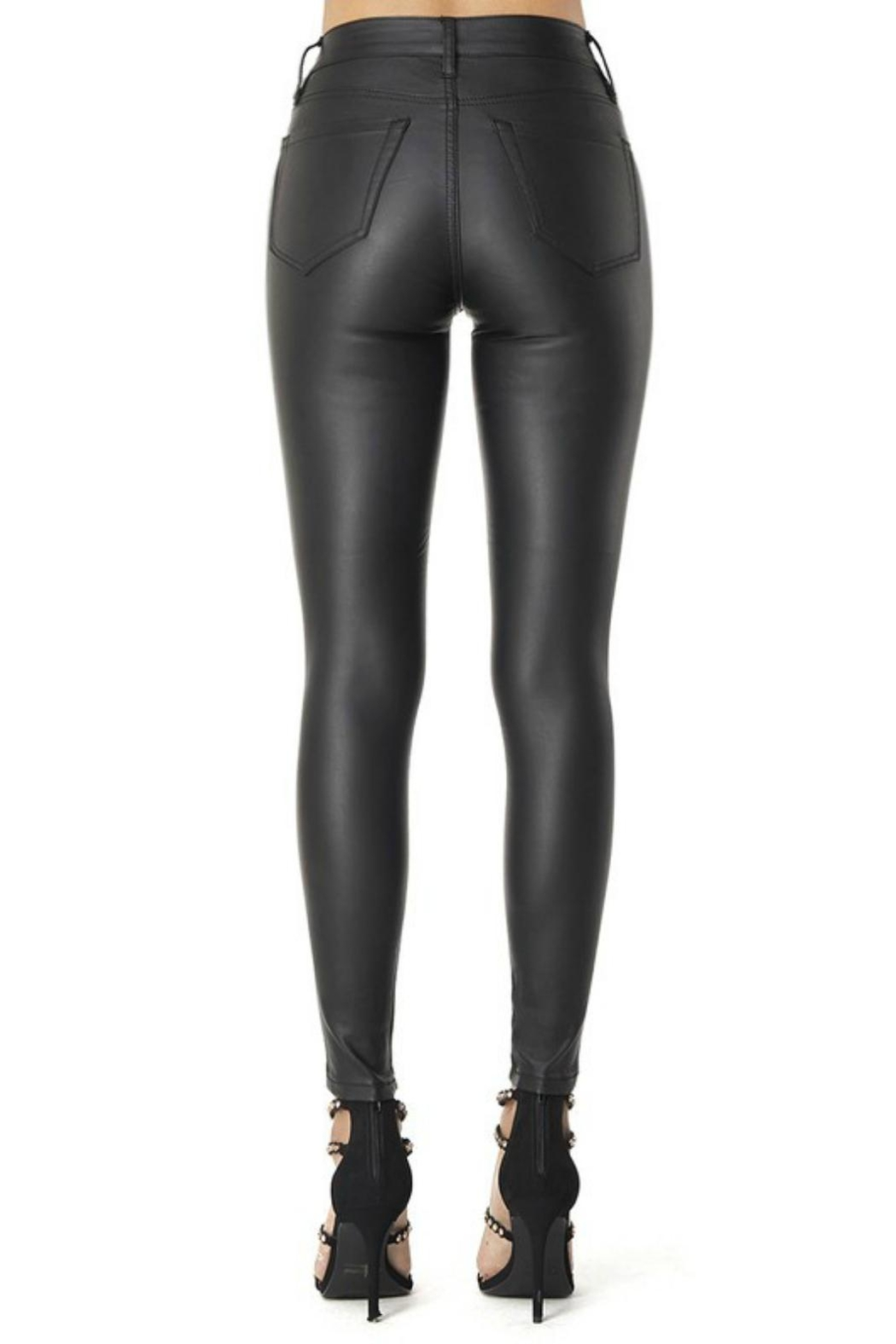 Pretty Little Things Vegan Leather Pants - Front Full Image