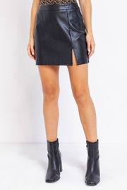Pretty Little Things Vegan Leather Skirt - Product Mini Image