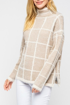 Pretty Little Things Windowpane Mohair Sweater - Product List Image