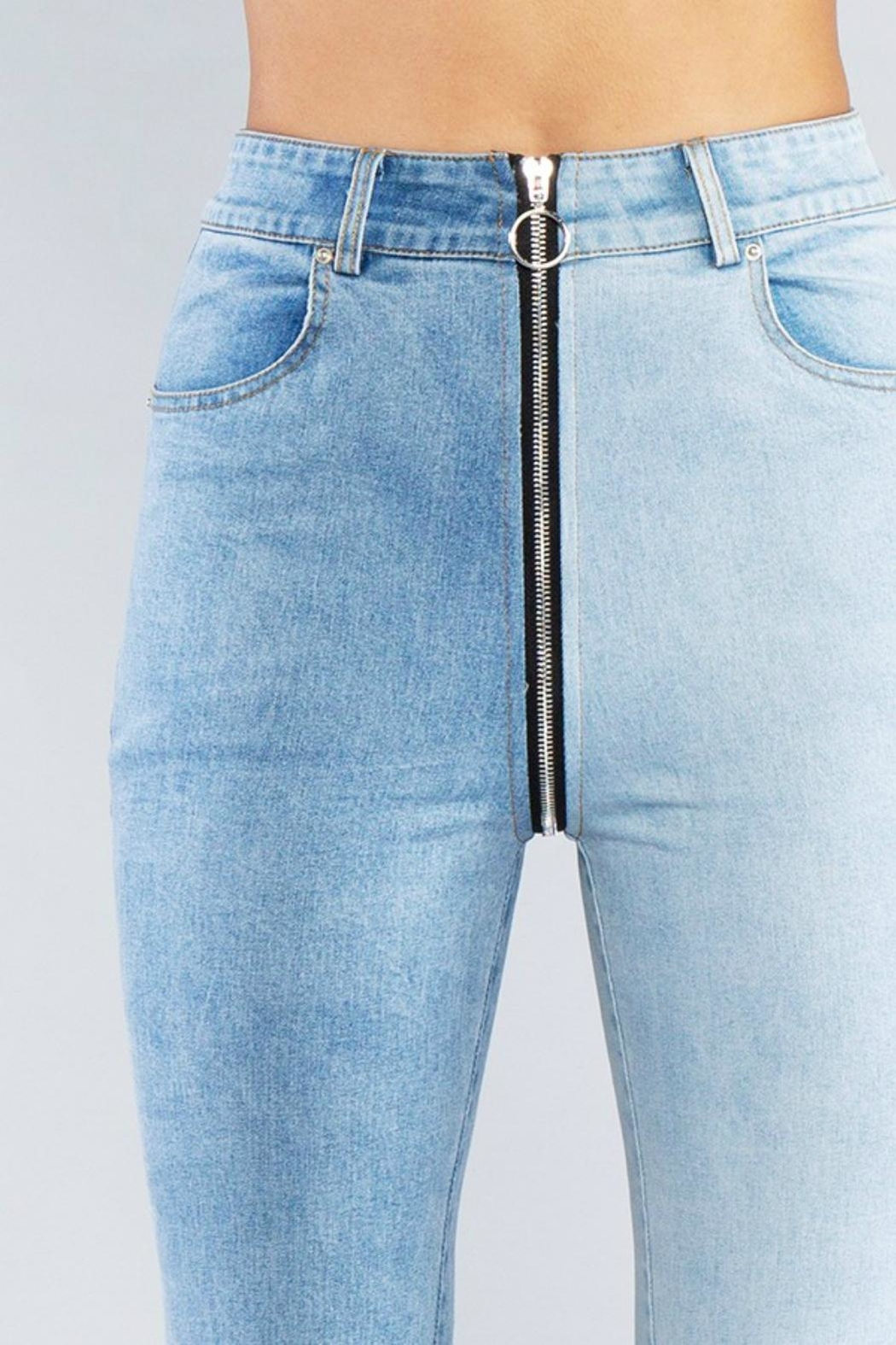 Pretty Little Things Zipper Front Jeans - Side Cropped Image
