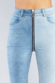 Pretty Little Things Zipper Front Jeans - Side cropped